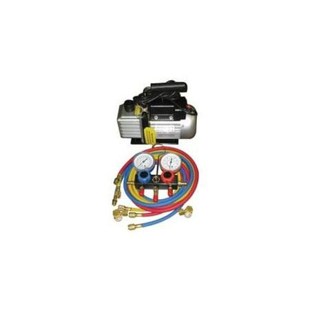 Fjc, Inc. KIT6 Vacuum Pump And R134a Manifold Gauge (Best Micron Vacuum Gauge)