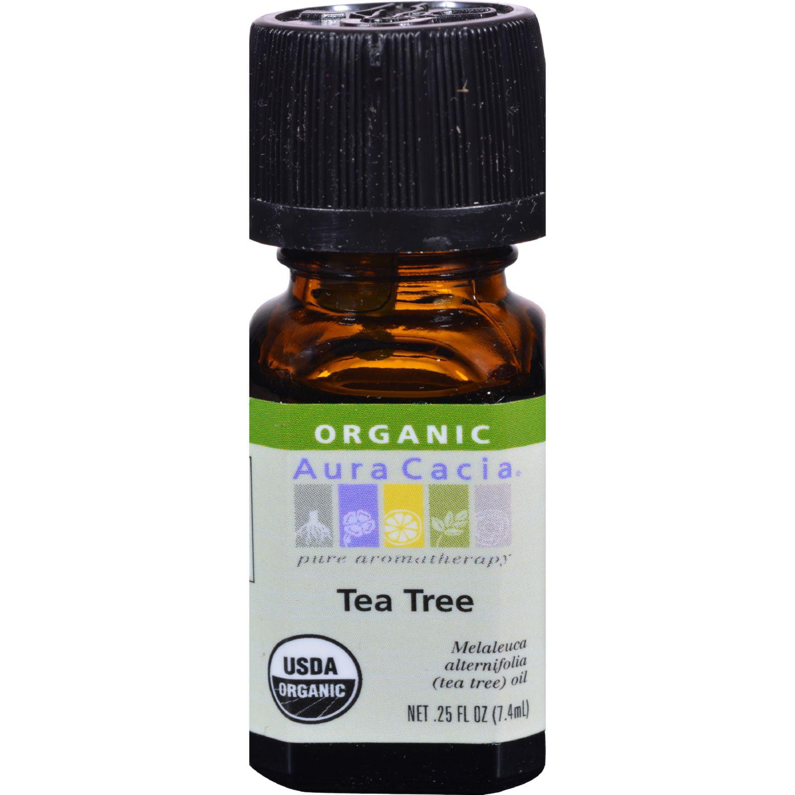 Frontier Natural Aura Cacia Organic Tea Tree Oil, 0.25 oz