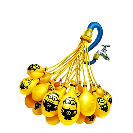 Water Balloons - Minions, Fill & Tie 100 Yellow Minion Water Balloons in 60 Seconds! By Bunch O Balloons