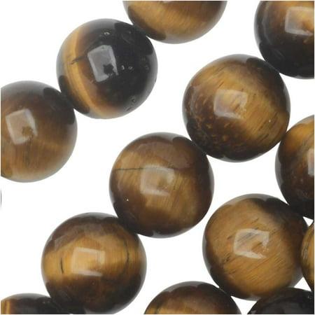 Tiger Eye Gemstone Beads - Dakota Stones Gemstone Beads, Tiger Eye, Round 8mm, 8 Inch Strand