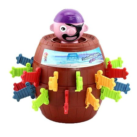 KABOER Children Funny Gadget Pirate Barrel Game Kids Toys Toy Luck Pop Up So
