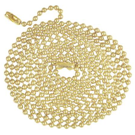 ZORO SELECT 4TGV9 Beaded Chain, 5 ft.