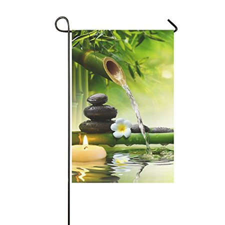 Imperial Japanese Flag (MYPOP Japanese Bamboo Fountain Spa Stones Flow Water Yard Garden Flag 28 x 40 Inches)