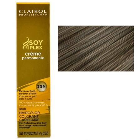 Clairol Professional Creme Permanente Hair Color - Color : Medium Gold-Neutral Brown -