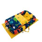 babydream1 6Pcs Portable Baby Bed Cushion Set Travel Crib Newborn Nest Sleeping Support Head Pillow, Type 2
