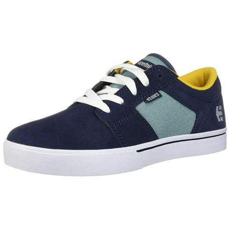 Etnies Shoe Size (Etnies Kids' Barge Ls Skate Shoe, Navy/Blue/Gold, Size 2 M Us Big Kid)