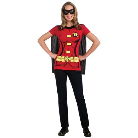 Robin (Female) T-Shirt Adult Costume Kit - Batman And Robin Tutu Costumes