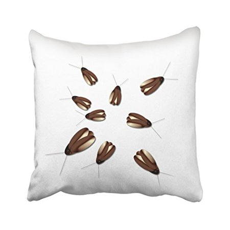 WinHome Creepy Cockroaches Gross Halloween Decorations Throw Pillow Covers Cushion Cover Case 18x18 Inches Pillowcases Two Side - Gross Foods For Halloween