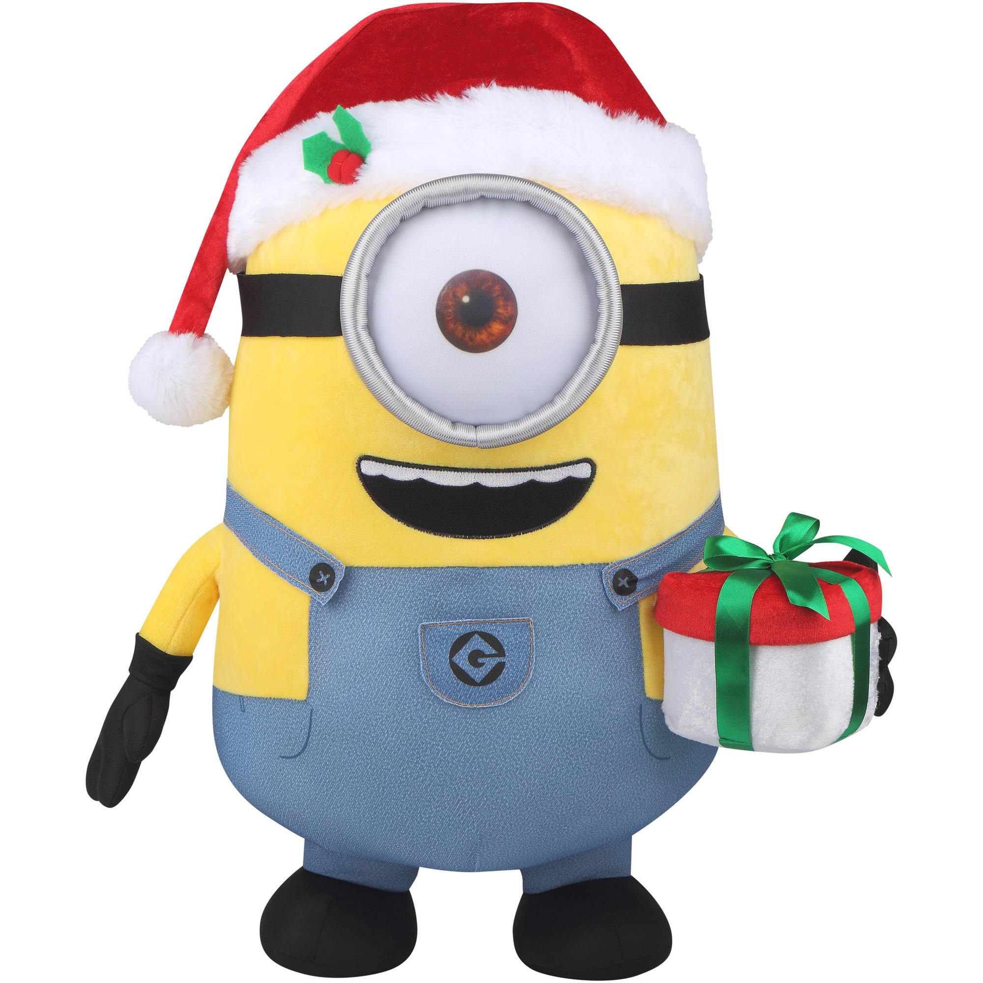 Minions Christmas.Holiday Time Universal 13261 21 Christmas Minion Stuart Plush Greeter