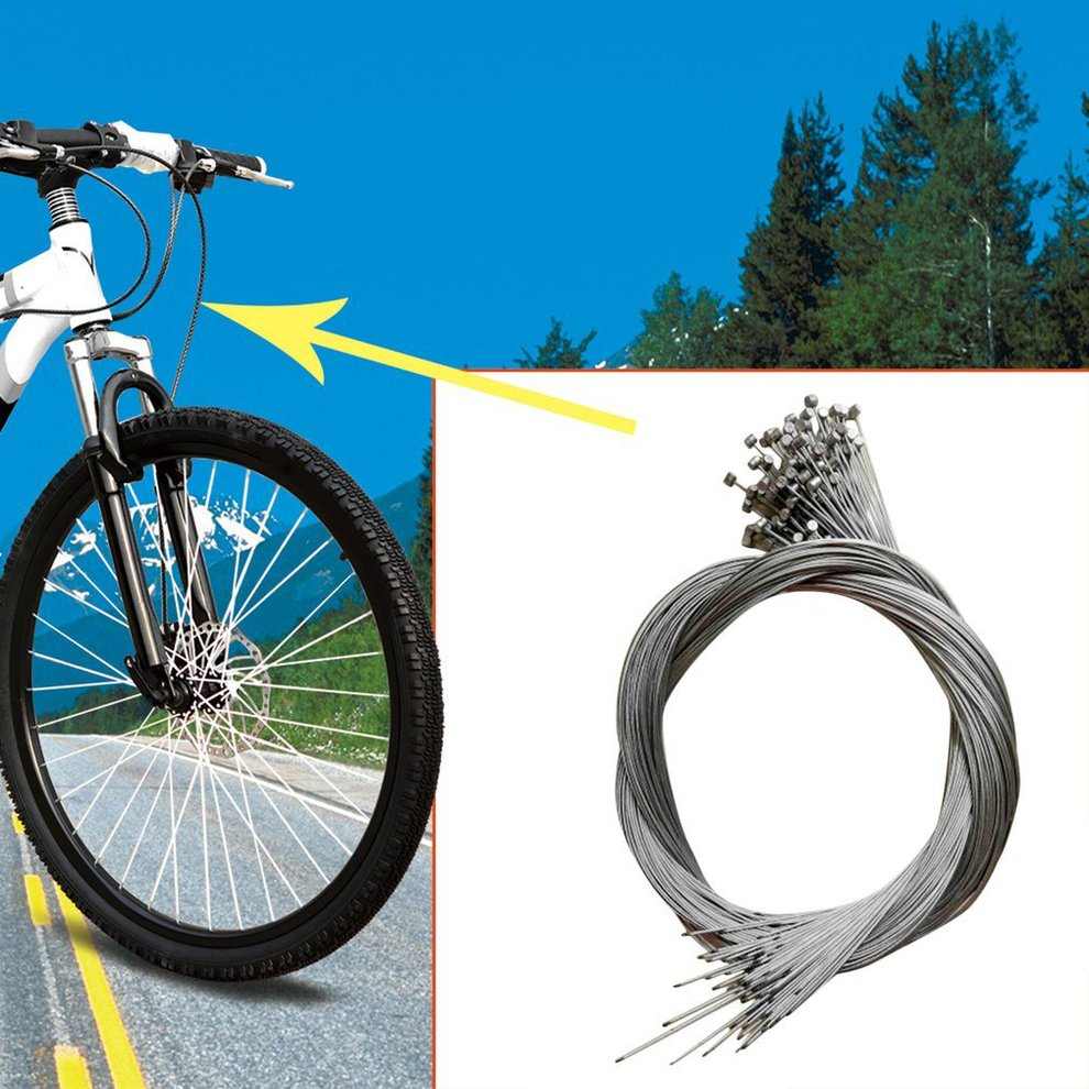 2 Pcs MTB Road Bike Brake Cable Galvanized Brake Wire Core Inner Line1.1M//2M