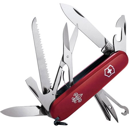 Victorinox Swiss Army Huntsman Pocket Knife  Red Boy Scouts Of America 91Mm
