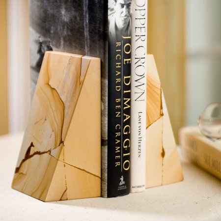 Triangle Natural Marble Bookends ()