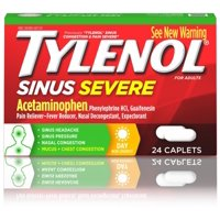 2 Pack - TYLENOL Sinus Congestion & Pain, Severe Caplets Daytime Non-Drowsy 24 EA