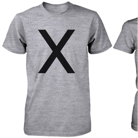 c3714d5169 365 Printing inc - X O Couple Shirts His and Hers Tee Set XO T-shirts Short  Sleeve Heather Grey - Walmart.com