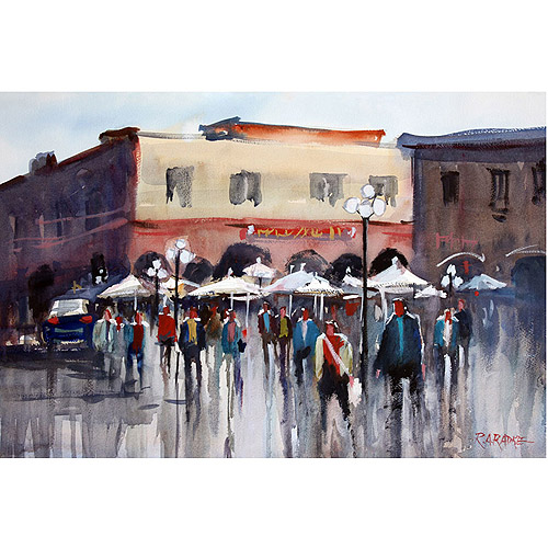 "Trademark Art ""Italian Marketplace"" Canvas Art by Ryan Radke"