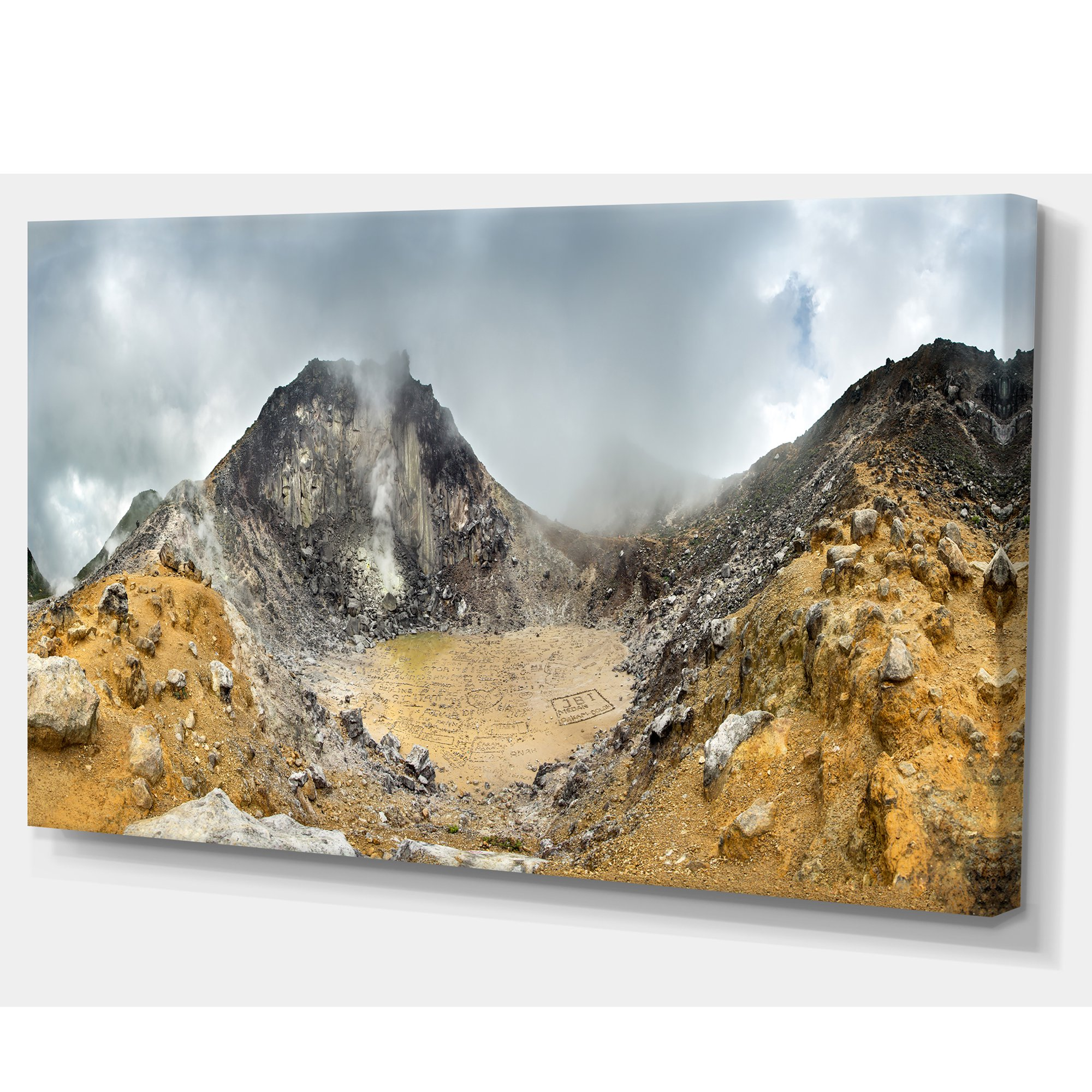 Volcano Panorama With Dramatic Sky Landscape Canvas Art Print Walmart Canada