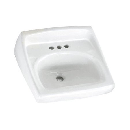 - American Standard 0355.012.020 Lucerne Wall Mount Vitreous China Bathroom Sink (White)