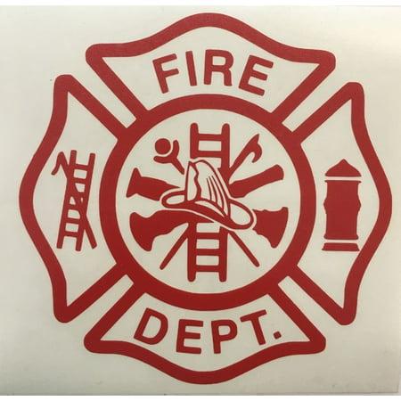 Firefighter Fireman Vinyl Decal Sticker Car Window 5.5 Inch Laptop Flat Surface ()