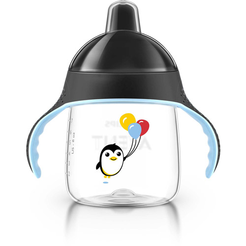Philips Avent My Penguin Sippy Cup, 9 Ounces, 2-Pack, 6 Months+, Stage 2, BPA-Free