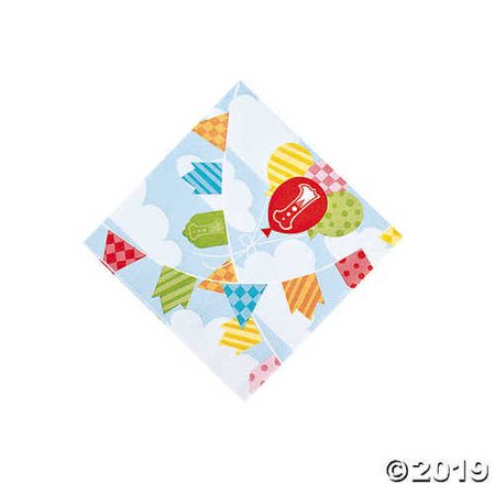 1st Birthday Circus Beverage Napkins 16 Piece(s) - Carnival Beverage