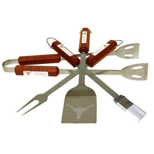 Bsi Products 61034 4 Pc Bbq Set - Texas Longhorns