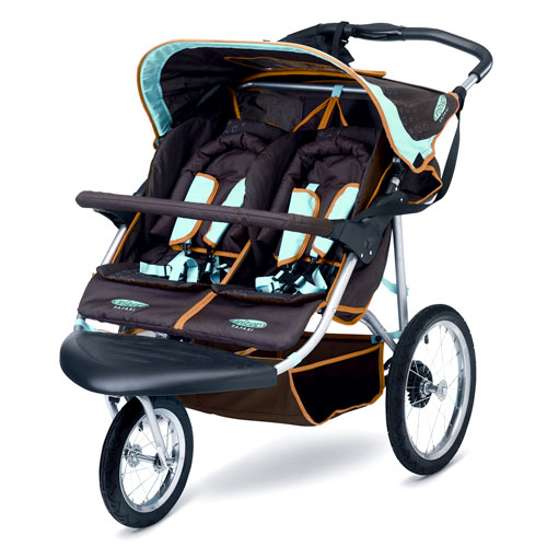 Instep Safari Double Stroller, Chocolate - Walmart.com