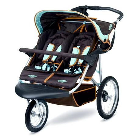 Instep Safari Double Stroller, Chocolate - Walmart.com