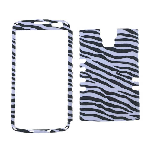 Rocker Series Snap-On Protector Case for LG LS740 / Volt (Leather Finish /Zebra Print)