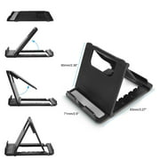 Foldable Cell Phone and Tablet Stand Holder Universal Black