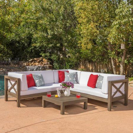 Home Loft Concepts Josefina 4 Piece Outdoor Seating Group With Cushion