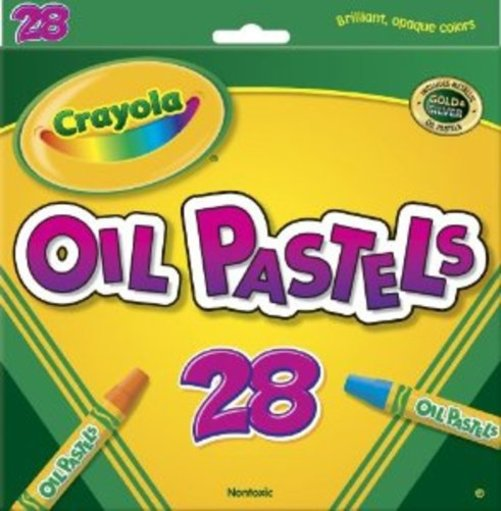"""Crayola 28 count Colored Oil Pastel Sticks, 2-15 16""""x1 2"""" by Crayola"""