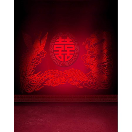 ABPHOTO Polyester Red Chinese Best Wishes for Wedding Photography Backdrops Photo Props Studio Background - Best Wishes For Wedding