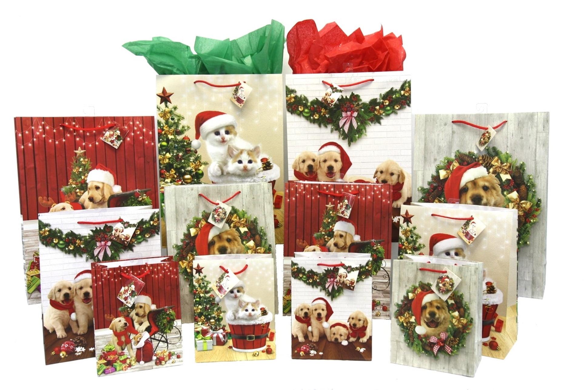 pk douglass christmas gift bags puppies kittens 12 bags