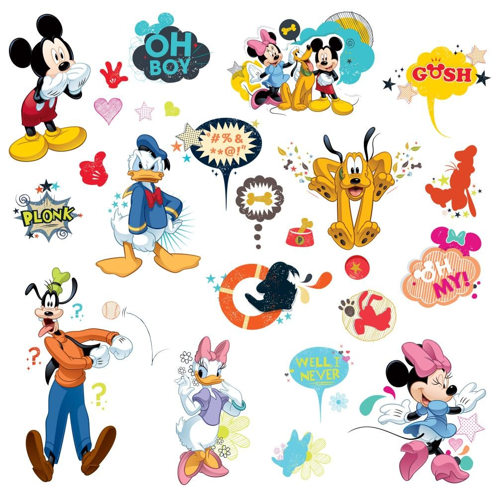 Mickey and Friends Animated Fun Peel and Stick Wall Decals