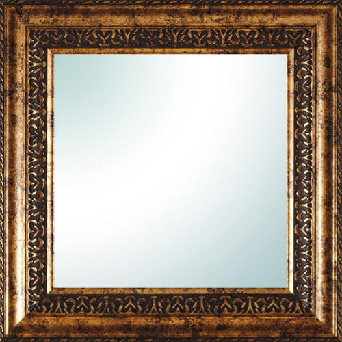 """14"""" x 14"""" Gold Ornate Square Mirror"""