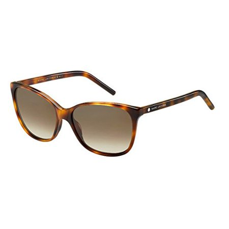 Marc Jacobs Women's Marc78s Oval Sunglasses, Havana/Brown Gradient, 57 mm