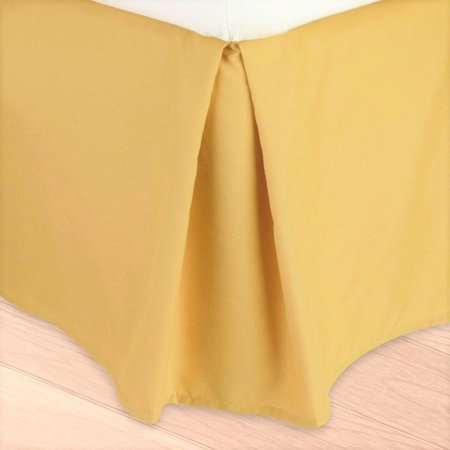 Cal-King Yellow Versatil Plain Dust Ruffle Around All Corners 1-Piece Wrap-Around Solid Regular Bed Skirt 14