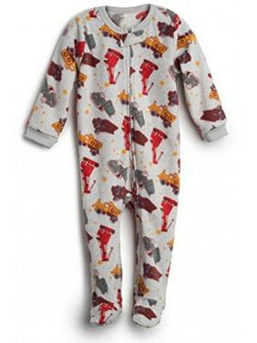 Elowel Baby Boys Footed Sand Truck Pajama Sleeper Fleece 18-24 Months