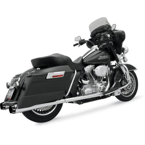 Bassani Manufacturing +P Bagger Dual System Chrome/Black ...