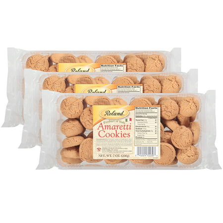 Hill 40 Cookie ((3 Pack) Roland Amaretti Cookies, 7.05 OZ )