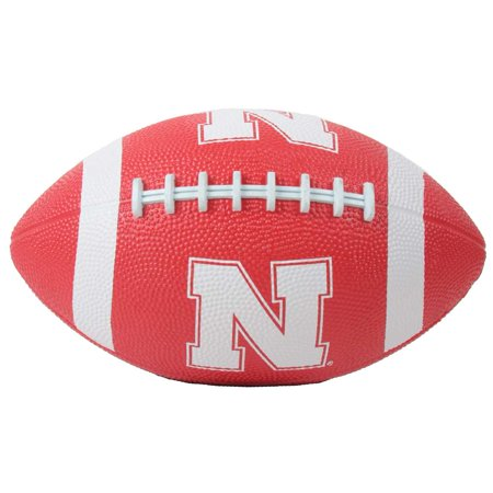 Nebraska Cornhuskers Mini Rubber Football (Personalized Mini Footballs)