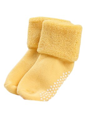 Lovely Annie Baby Children 6 Pairs Pack Non-Skid Non Slip Combed Cotton Socks 1Y-3Y 6 Colors