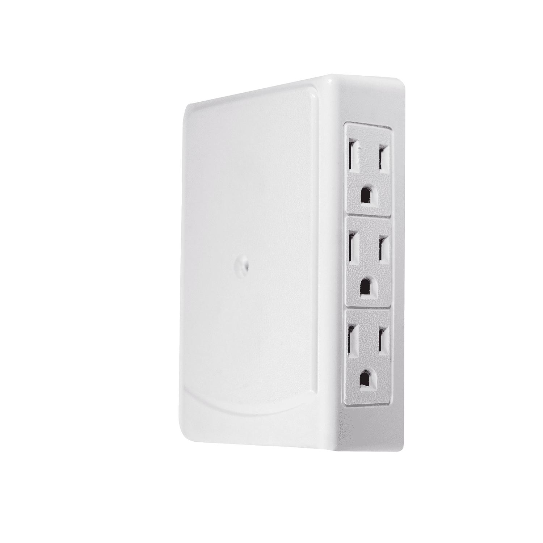 GoGreen Power 6-Outlet Side Wall Tap, White, GG-16000TSM by GoGreen Power