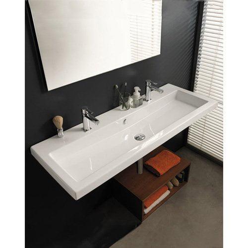 Bathroom Sinks At Walmart teclanameeks can05011 bathroom sink - white - walmart