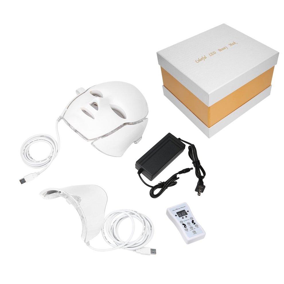 LED 7Colors Light Microcurrent Facial Mask Machine Photon...