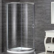 Aston 40'' x 77.5'' Round Sliding Shower enclosure with Base Included