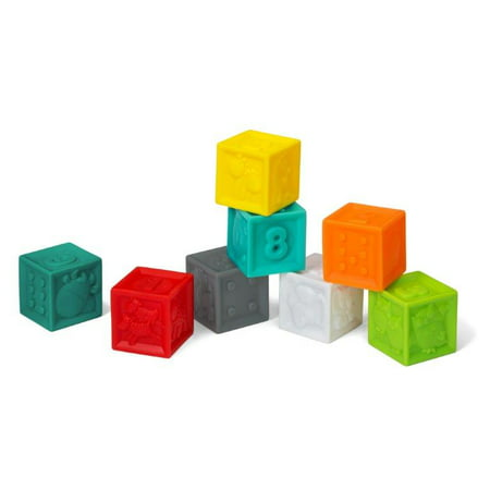Filled Baby Blocks - Infantino Squeeze & Stack Block Set, 8-Piece