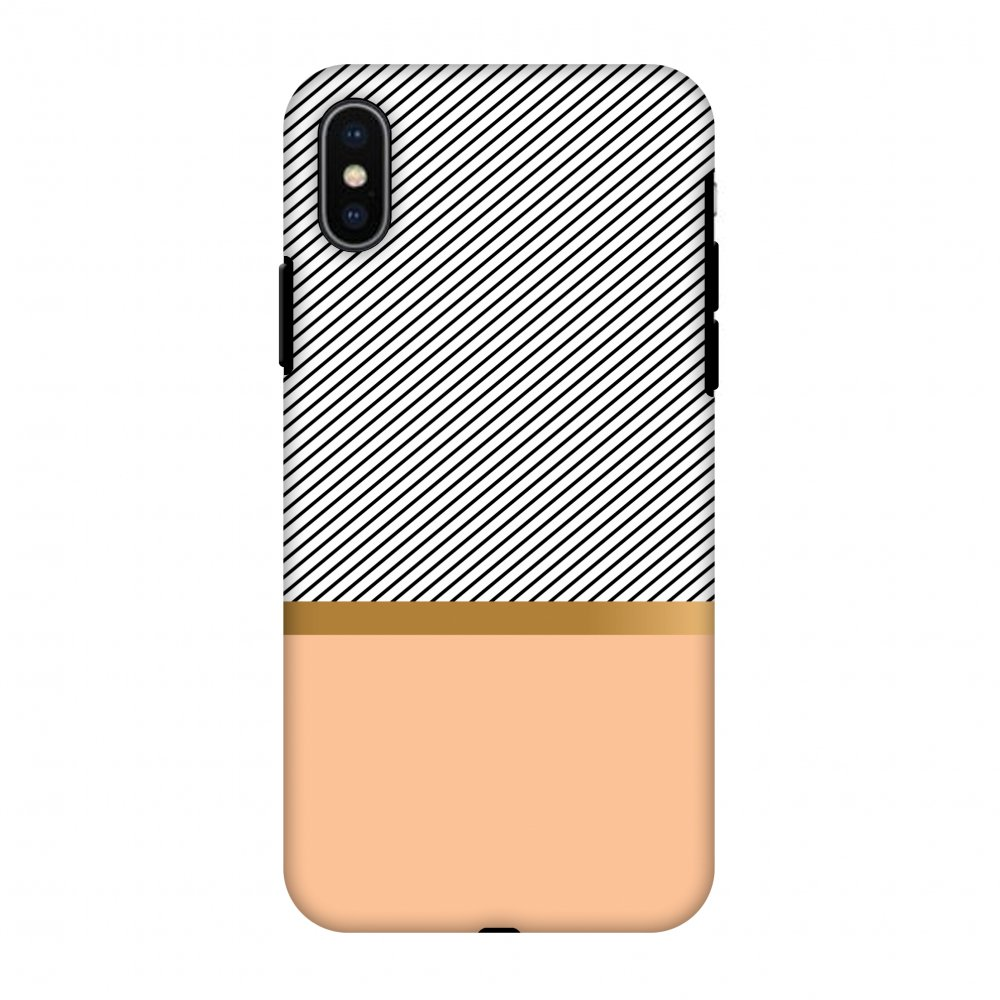iPhone X Case, Premium Heavy Duty Dual Layer Handcrafted Designer Case ShockProof Protective Cover with Screen Cleaning Kit for iPhone X - Stripe Away, Flexible TPU, Hard Shell