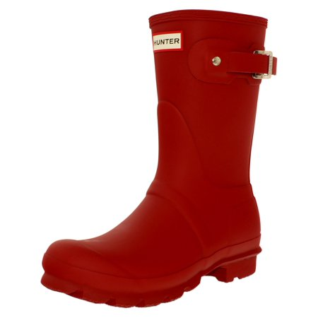 Hunter Original Short Rain Boot - 6M - Military (Hunter Original Tall Rain Boot Wide Calf)