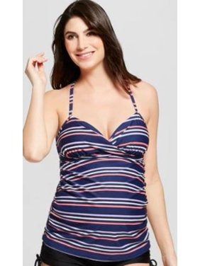 46c8f290fd3d0 Product Image Isabel Maternity Multi Stripe Cross Back Tankini